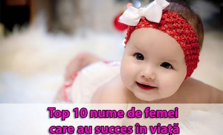 Top 10 nume de femei care au succes în viață