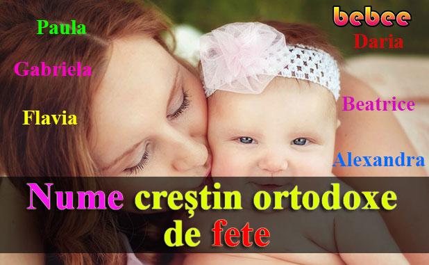 Nume creștin ortodoxe de fete