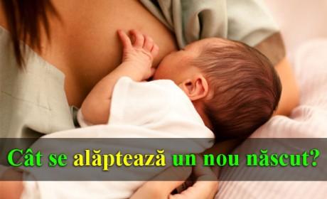 Cât se alăptează un nou-născut?