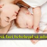 bebelus si mama care dorm