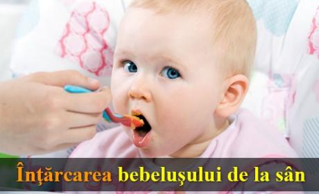 Înţărcarea bebeluşului de la sân