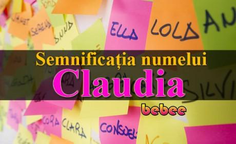 Semnificația numelui Claudia