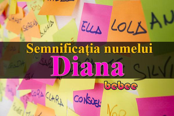 Semnificația numelui Diana
