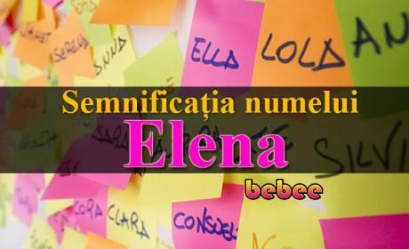 Semnificația numelui Elena
