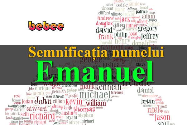 Semnificația numelui Emanuel