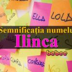 nume Ilinca