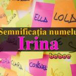 nume Irina
