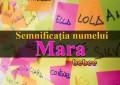 Semnificația numelui Mara