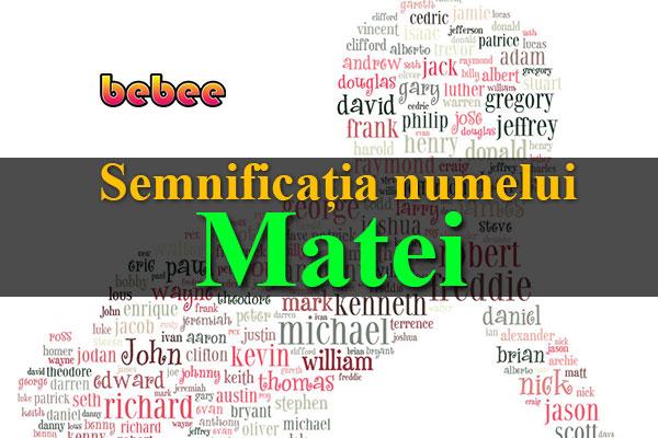 Semnificația numelui Matei
