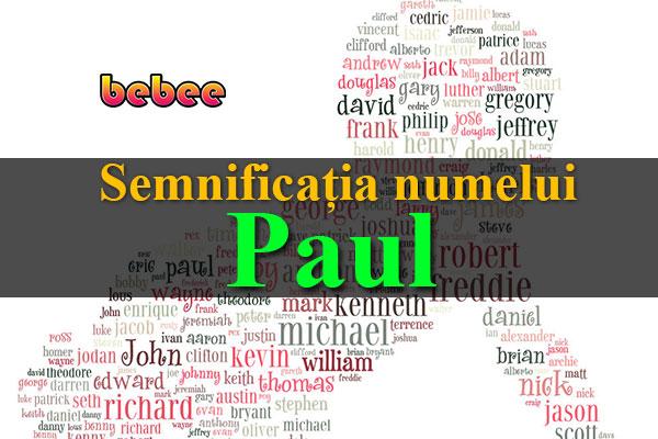 Semnificația numelui Paul