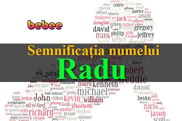 Semnificația numelui Radu