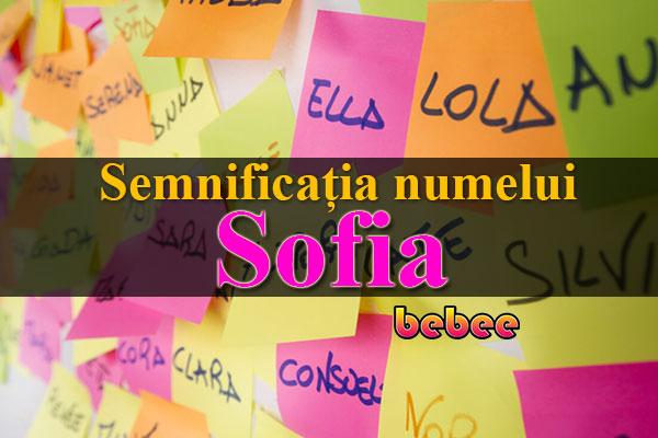 Semnificația numelui Sofia