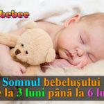 bebelus care doarme cu un ursulet