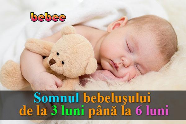 Somnul bebeluşului de la 3 luni până la 6 luni