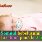bebelus care doarme cu suzeta in gura
