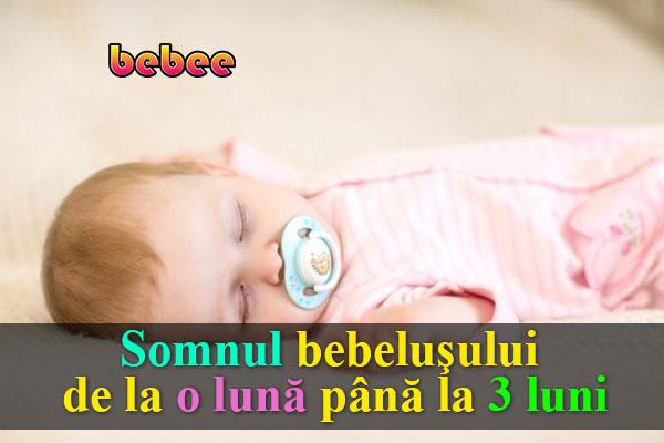 Somnul bebeluşului de la o lună până la 3 luni