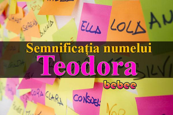 Semnificația numelui Teodora