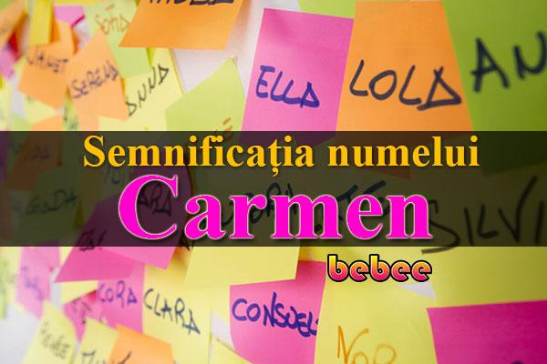Semnificația numelui Carmen