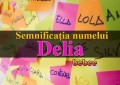 Semnificația numelui Delia
