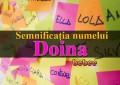 Semnificația numelui Doina