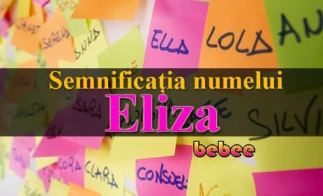 Semnificația numelui Eliza