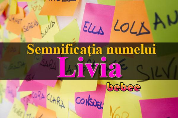 Semnificația numelui Livia